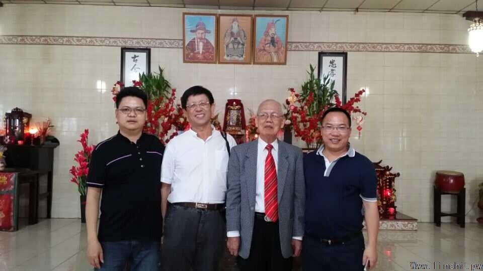 在中华林氏总会林伟功会长带领下,林一桢,林国文,林启贵等一行前往图片